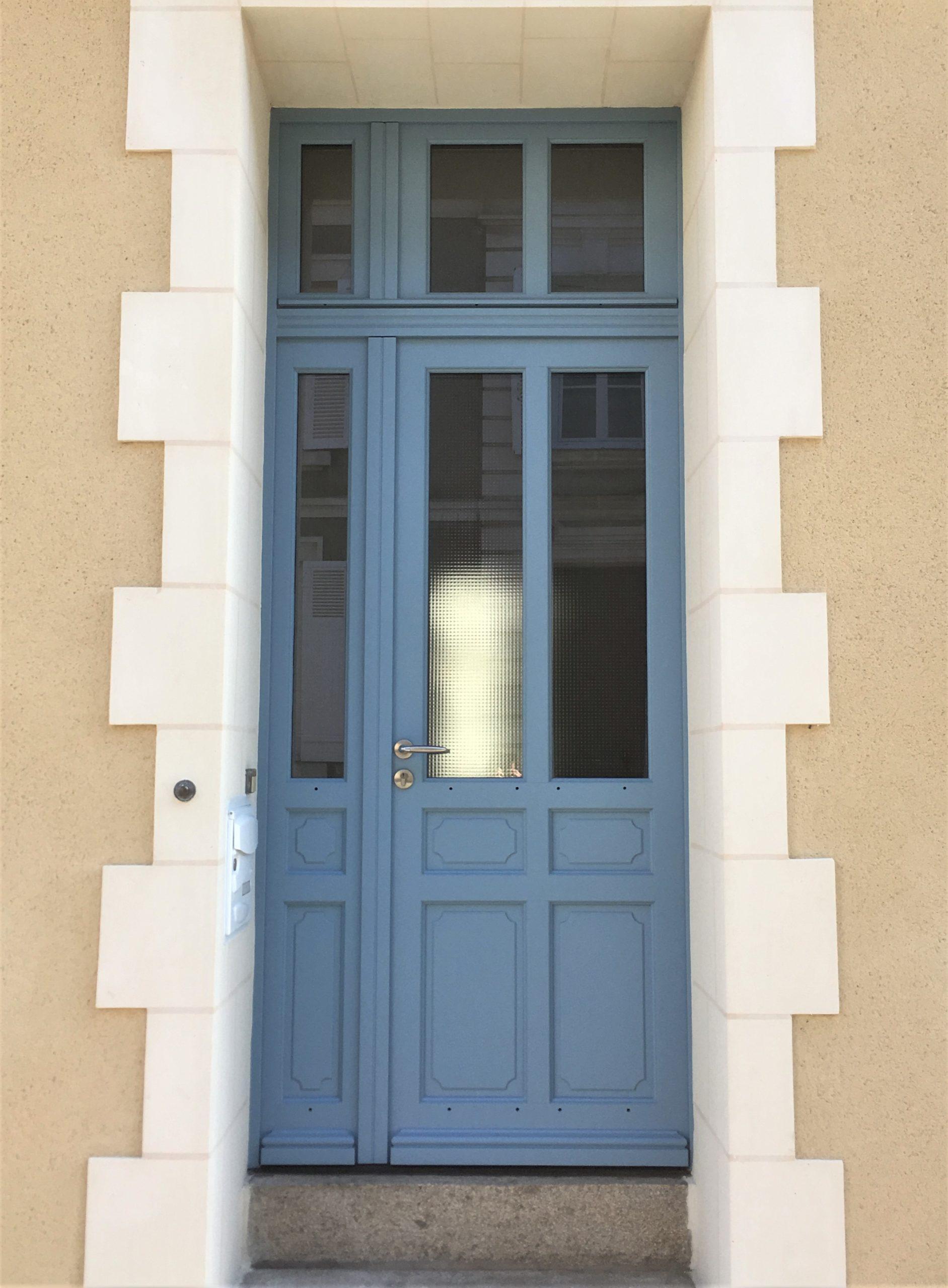 Huisserie - Peinture porte bleu Angers