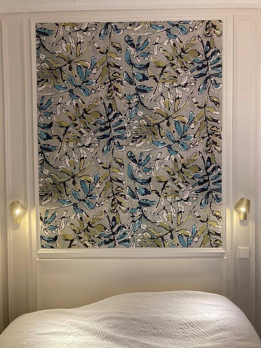 Tissu tendu angers pose artisan tapissier