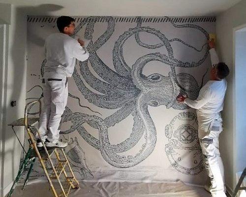 pose papier peint artisan angers